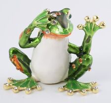 Frog see no evil by Keren Kopal Austrian Crystal Jewelry box Trinket box