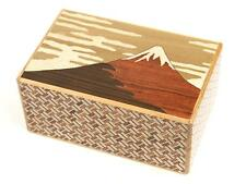 Rompecabezas Secreto Caja yosegi Hakone 21 paso Truco Fuji japonés de madera con T