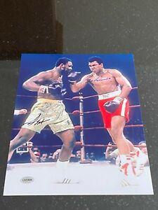 Muhammad Ali Joe Frazier signed 8x10 photo with coa