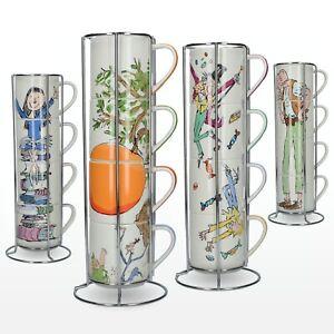 Roald Dahl Fine China Stacking Mug Sets - cups, fine bone china, illustrated, Ma