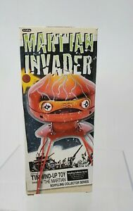 Martian Invader Vintage tin wind up Toy schylling collector series