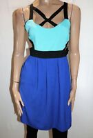 Knight Angel Brand Blue Color Block Cut Out Sleeveless Dress Size 10 BNWT #SR111