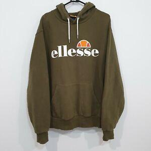 Ellesse Mens Hoodie Sweatshirt Pullover Size XL Khaki Olive Green