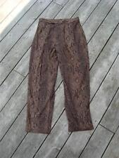 ~WILDLIFE SPORTSWEAR 12 BROWN MOLESKIN PANTS REPTILE STRETCH~$5.50 SHIP~