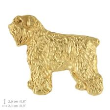 Bouvier des Flandres (body), gold covered pin, high quality Art Dog Ca