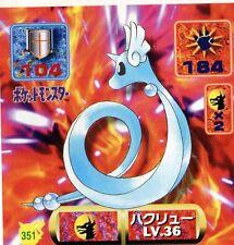 POKEMON STICKER Carte JAPANESE 50X50 1997 NORM@L N° 351 DRAGONAIR DRACO