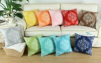 2Pcs Cozy Shells Throw Pillows Cases Covers Couch Bed Sofa Mandala Florals Decor