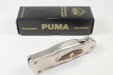 GERMAN PUMA HUNT WHITE HUNTER KNIFE HANDLE ALUMINUM W/ STAG INLETS & WRENCH LOOK