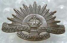 Badge- Australian Commonwealth Military Force Official Badge (BRONZE, Genuine*)