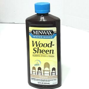 Minwax Water Based Wood-Sheen Rubbing Stain Finish Natural 12oz NEW