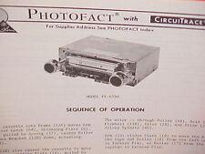 1977 CLARION CAR CASSETTE TAPE/AM-FM MPX RADIO SERVICE MANUAL PE-659A & PU-659A