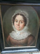 Wunderschönes Ölgemälde Portrait vornehme Dame 19.Jh. um 1800 Empire Biedermeier