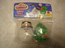 New Holiday Pack Snowman & Tree 4oz play-doh set Christmas RARE!