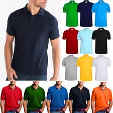 Men's Polo Shirt Dri-Fit Quick-Dry Golf Sports Tee Cotton Jersey Plain T Shirt