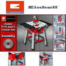 Einhell TC-TS 2025 U 1800w 250 x 30 x 2.4 mm Table Saw w/ 5000 rpm Underframe