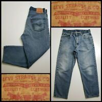 Levi's 550 Men Denim Tapered Leg Relaxed Blue Jeans Size 34 x 30