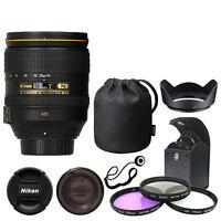 Nikon 24-120mm f/4G ED VR AF-S NIKKOR Lens Bundle: Filters Hood Cap Keeper
