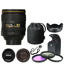 Nikon 24-120mm f/4G ED VR AF-S NIKKOR Lens Bundle: Filters Hood Cap Keeper