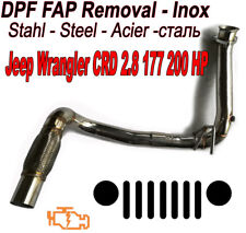 Downpipe DPF FAP suppression Jeep Wrangler 2.8 CRD 177 200 BHP voler Inox