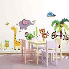 Jungle Monkeys Nursery kids Room Wallpaper Wall Sticker Decals Decoration Art