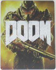 Genuine PS4 Doom COLECCIONISTAS STEELBOOK Disco de Juego Solo Estuche-Nuevo Otro