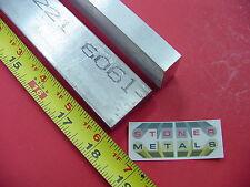 "2 Pieces 1/2"" X 1-1/4"" ALUMINUM 6061 T6511 FLAT BAR 18"" long .50"" Mill Stock"