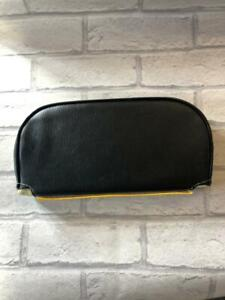 Mod Scooter Slipover Cuppini Backrest Pad Black Back Yellow Front