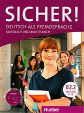 HUEBER Sicher! Kursbuch Und Arbeitsbuch B2.2 Lektion 7-12 MIT Audio-CD @NEW@