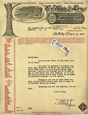 1917 Letterhead P ROHRBACHER Buffalo New York G ELIAS BROS LUMBER Hardwood Floor