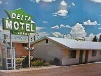 Delta Motel - Winslow - US Hwy 66 - Vintage Arizona Postcard                A337
