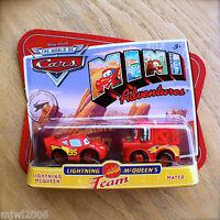 Disney PIXAR Cars MINI ADVENTURES Lightning McQueen's Team MCQUEEN & MATER 2pack