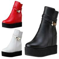 CCC Large size shoes womens ankle Flatform Boots 6 7 8 9 10 11 12 13 14 15 16