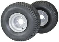 20x10.00-8 with 8x7 Silver Wheel Assembly (Set of 2) for Golf Cart & Lawn Mower