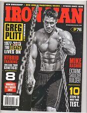 IronMan Bodybuilding Muscle Magazine/Greg Plitt DEAD Tribute Issue 3-15