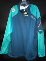 MIAMI DOLPHINS NIKE TEAM ISSUED LONG SLEEVE WINDBREAKER 1/3 ZIP SZ - 3XL W/TAGS