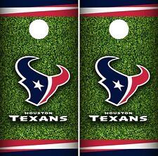 Houston Texans Field Cornhole Wrap NFL Game Skin Board Set Vinyl Decal CO76