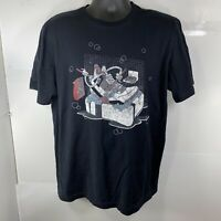 Nike Air Jordan Mens T Shirt L Soap & Bubble Black Sneaker Design