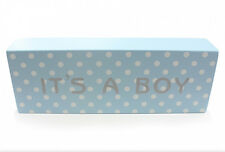 IT'S A BOY ~ Blu & White Polka Dot PLACCA Nursery NEW BABY REGALO lp23700