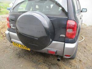 toyota rav4 spare wheel cover + backing plastic 2000 - 2005 black