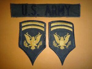 AMÉRICAIN Armée Poche Bande + Paire De États-Unis Privé 1st Classe Rang Chevrons