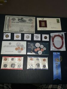 COIN LOT BIG collection MINT SETS GOLD STAMP vintage train bond NO JUNK DRAWER