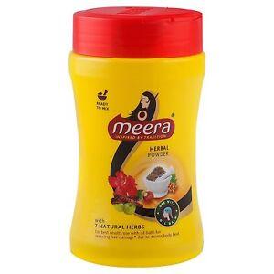 2 x Meera Herbal Hairwash Powder With 7 Natural Herbs - 120g (Pack of 2)