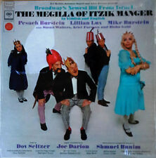 MEGILLA OF ITZIK MANGER - PESACH BURSTEIN, LILLIAN LUX - COLUMBIA LP - ORIG.CAST