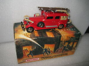 MATCHBOX COLLECTIBLE 1933 CADILLAC  FIRE WAGON  TRUCK   #YFE03  OLD STOCK
