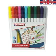 Edding Colourpen Broad 12 Colouring Pens Felt Tip Markers Art Stationery