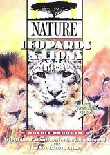Nature: Leopards and Lions Double Program Two Movies PBS Series DVD Region 1 New