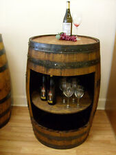 Whiskey Barrel White Oak Open Front Display Cabinet-FREE SHIPPING