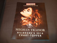 Meghan Trainor 2016 congratulation ad for being Billboard's Chart-Topper Award