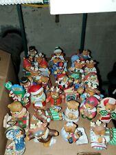 (21) Lucy & Me Bear Collectible Figures! Christmas & Holiday Theme! 1982 - 1996