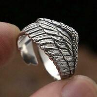 Flügelringe für Frauen Mode Einfache Metall Fingerring Hochzeitsschmuck C4N3